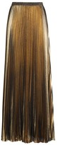 Eliza J Women's Metallic Pleat Maxi Skirt