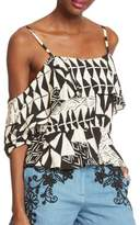 Plenty by Tracy Reese Floral-Printed Popover Top