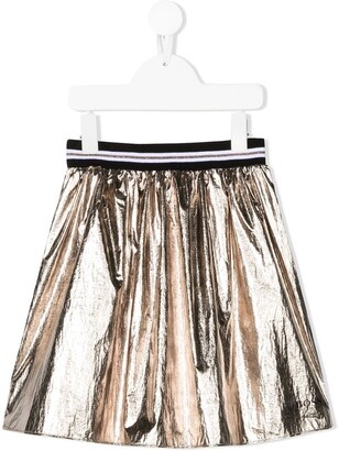Boss Kidswear Metallic Flared Skirt