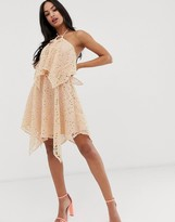 Asos Design DESIGN mini dress with double layer in cutwork lace