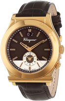 Salvatore Ferragamo Men's F62LDT5095 S497 1898 Gold Ion-Plated Watch with Leather Band