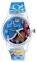 Core Designer Girls Watch Floral Strap Multi-Colour Dial Analog All Plastic With One Extra Battery