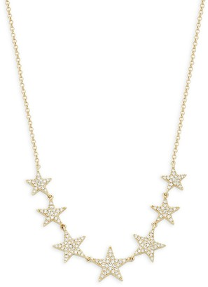 Saks Fifth Avenue 14K Yellow Gold & Diamond Star Necklace