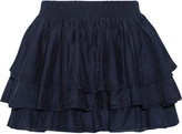 Joie Tiarella tiered cotton and silk-blend mini skirt