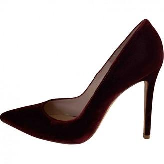 Gianvito Rossi Gianvito Burgundy Velvet Heels