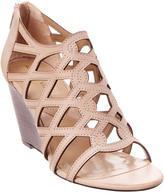 Adrienne Vittadini Alby Leather Wedge Sandal