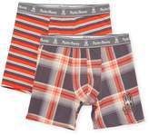Psycho Bunny Men's Cotton Boxer Brief Two-Piece Gift Set