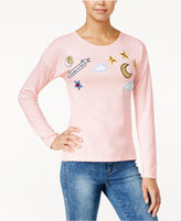 Oh!MG Juniors' Moon & Stars Patch Sweater