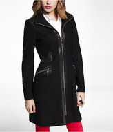 Express (minus The) Leather Inset Coat