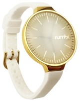RumbaTime Women's Orchard Gold Watch - White