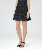 Reiss Taffy Jacquard Mini Skirt