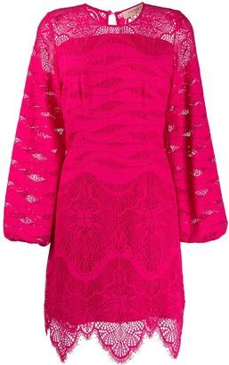 Twin-Set Twin Set long sleeve lace layered dress