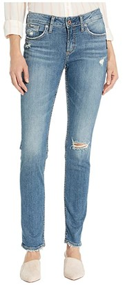 Silver Jeans Co. Avery High-Rise Curvy Fit Slim Leg Jeans in Indigo L94317SJL211 (Indigo) Women's Jeans