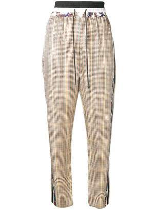 3.1 Phillip Lim side stripe check trousers