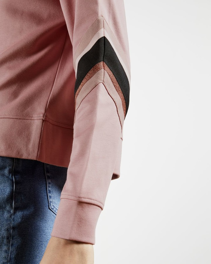 Thumbnail for your product : Ted Baker Sweatshirt With Knitted Stripe