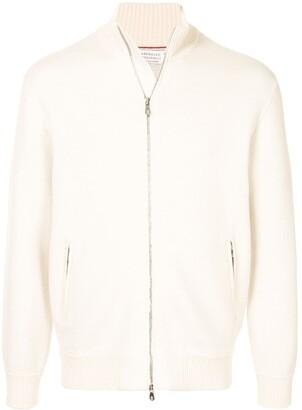 Brunello Cucinelli High-Neck Zipped From Cardigan
