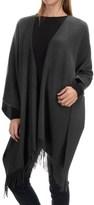 "Portolano Wool Ruana Poncho - 50x57"" (For Women)"