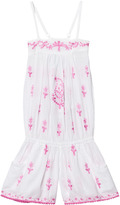 Elizabeth Hurley White Embroidered Cupid Playsuit