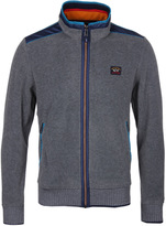 Paul & Shark Light Grey Zip Through Hooded Fleece