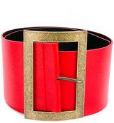 Philosophy Di Lorenzo Serafini - wide buckle belt - women - Leather - S