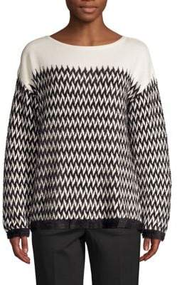 Vince Camuto Chevron Printed Pullover Sweater