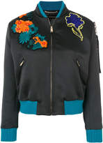 Versace embroidered bomber jacket