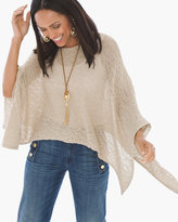 Chico's Piper Shimmer Knit Poncho