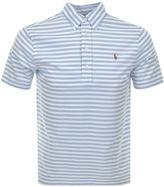 Ralph Lauren Striped Polo T Shirt Blue