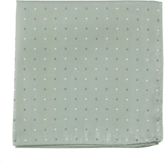 Proenza Schouler The Tie BarThe Tie Bar Sage Green Suited Polka Dots Pocket Square