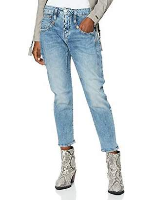 Herrlicher Women's Shyra Cropped Denim Stretch Slim Jeans,18 (Size: )