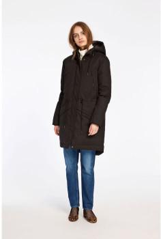 Samsoe & Samsoe Black Polyester Lucca Parka Coat - M . | polyester | burgundy - Black/Black/Burgundy