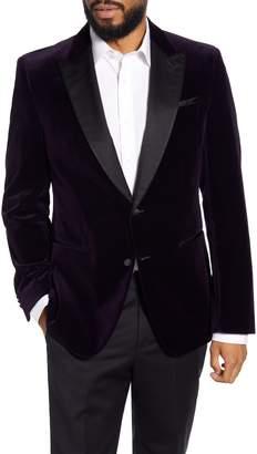 BOSS Helward Trim Fit Velvet Cotton Dinner Jacket