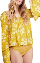 Free People One on One Bell Sleeve Bodysuit