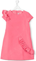 Simonetta Teen ruffled detail dress - kids - Polyester - 14 yrs
