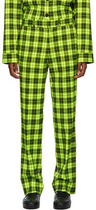 Sankuanz Green Check Trousers