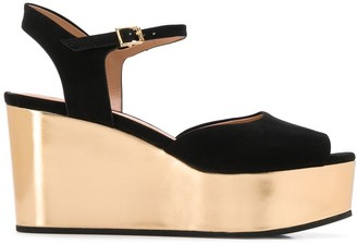 Marni Metallic Sole Wedge Sandals