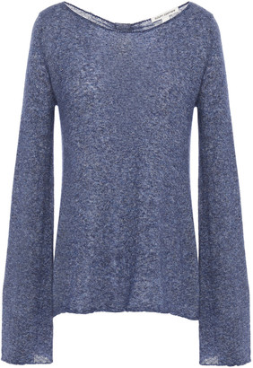 Autumn Cashmere Knotted Melange Cashmere And Silk-blend Sweater