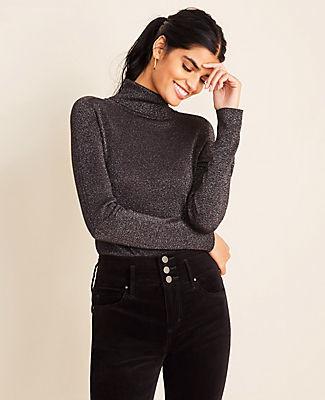 Ann Taylor Shimmer Turtleneck Sweater