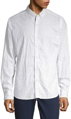 Report Collection Cactus-Print Button-Down Shirt