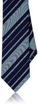 Barneys New York Men's Repp Stripe Silk Necktie-NAVY