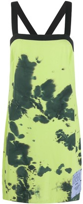 Mcq Swallow Tie-Dye Print Shift Dress