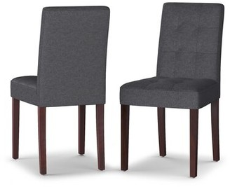 Winston Porter Padelsky Tufted Upholstered Parsons Chair in Gray