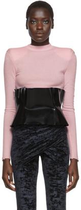 Unravel Black PVC Zip Corset