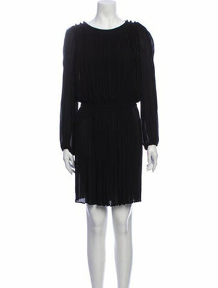 Etoile Isabel Marant Scoop Neck Knee-Length Dress w/ Tags Black