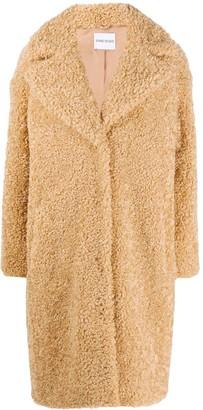 Stand Studio Shearling Long-Sleeve Coat