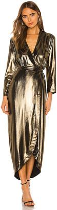 L'Agence Reliah Long Sleeve Wrap Dress