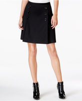 Maison Jules Button-Detail Mini Skirt, Only at Macy's