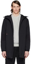 Moncler Black Down Kanin Coat