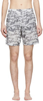 Off-White Off White Grey All Over Arrows Swim Shorts