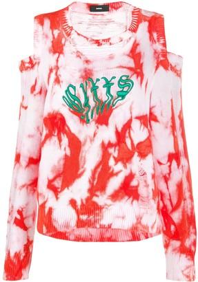 Diesel tie-dye print jumper